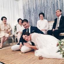 เพชร นาระ ควงแฟนหนุ่มนักธุรกิจ บีท ชวิทย์ เข้าพิธีแต่งงานชื่นมื่น