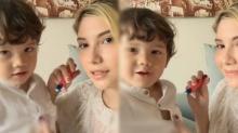 น่ารักไปอีก!! ซาร่า แม็กซ์เวลล์ คุยกันมุ้งมิ้ง ตามภาษาแม่ลูก? (คลิป)