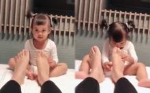 """เอ็นดู๊วววววว เมื่อ """"น้องเจ้าขา"""" นวดเท้าให้คุณเเม่กระเเต จะน่ารักขนาดไหน? ไปดู!! (คลิป)"""