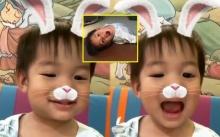 """โอ๊ยยยยใจละลาย!! เมื่อ """"น้องเรซซิ่ง"""" ยิ้มหวาน เล่นกับกล้องที่โรงพยาบาล (คลิป)"""