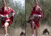 วิ่งดิเอ๋วิ่ง!! ฮาแตกเกมโชว์ญี่ปุ่นจัดแข่งความเร็วระหว่าง 'ผู้หญิง' กับ 'มังกรโคโมโด'