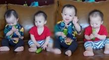 สายฟ้า พายุ โชว์ กินผัก ที่เด็กหลายคนต้องร้องยี๋ แต่สองแฝดกลับกินเพลิน (คลิป)
