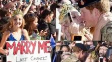 วินาที! เจ้าชานแฮรี่ โดนสาวจุมพิตขอแต่งงาน
