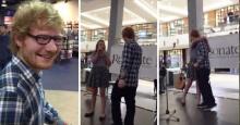 เมื่อ Ed Sheeran ได้ยินคนร้องเพลงของเขาในห้าง เขาจึงขึ้นเวทีไปแจมด้วย!!!