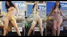 เชอรี่ สามโคก นุ่งบิกินี่สุดเซ็กซี่โชว์ลีลาล้างรถสุดยั่วยวนใจ