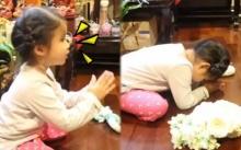 """เมื่อ """"แม่เมย์"""" พา """"น้องมายู"""" ไปไหว้พระ พอได้ยินคำอธิษฐานเท่านั้นแหละ? ขำหนักมาก!! (คลิป)"""