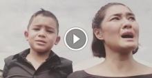 ลูกเกด เมทินี และ ลูกชาย น้องสกาย ร่วมร้องเพลง สรรเสริญพระบารมี ทั้งน้ำตา ..!!