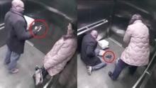 สยองในลิฟต์ ตำรวจงัดปืนโชว์สาว เกิดลั่นโป้งโดนตัวเองล้มฟุบ