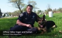 ซึ้ง!! พิธีอำลาสุนัขตำรวจสมเกียรติ หลังปลดประจำการ