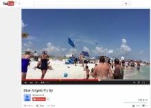 นักบินทัพเรือสหรัฐฯแกล้งชาวบ้าน บินโฉบชายหาด, เต็นท์ผ้าใบปลิวกระจาย