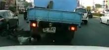 รถบรรทุกน้ำ เหยียบคนเต็มๆ!!
