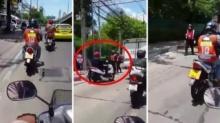 อภิมหาฮา 3 ชั้น! โจ๋ไทยถ่ายทอดสด วินาทีขับมอไซค์ผ่าน ด่านตำรวจ ลุ้นจนตัวเกร็ง..