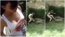 เด็กสาวห้าวเกินเหตุ โดดลงบ่อไปแหย่จระเข้ยักษ์...สุดท้าย...!?