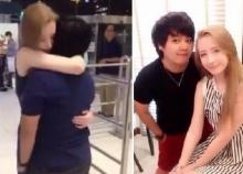 รักไร้พรมแดน สาวต่างชาติ บินลัดฟ้ามาโผกอดทอมไทยกลางสนามบิน