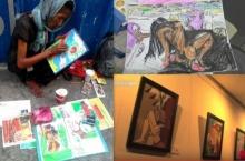 ฝันเป็นจริง!! ศิลปินหญิงไร้บ้านได้จัดนิทรรศการศิลปะของตัวเอง!!