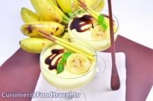 นุ่ม ๆหอมๆ พุดดิ้งนมสดรสกล้วยหอม  (เมนูไมโครเวฟ)