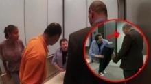 """อึ้งทั้งลิฟท์! เมื่อนักมายากล คิดค้นวิธีแกล้งคน """"แยกตัว แยกขา"""" ..แต่สุดท้ายขำไม่ออกเพราะเจอมนุษย์ลุงคนนี้"""