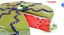 อย่างนี้ต้องลอง!! เค้กแตงโม  ขอบอกว่าเป็น เค้กแตงโมจริงจริง