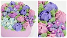 เค้กดอกไม้จากครีมบัทเตอร์สุดฮิต!!