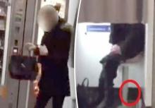 อุบาทว์!!สาวใช้โฟโต้บูธสถานีรถไฟเป็นที่ปลดทุกข์แทนส้วม