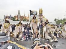 ช้าง 11 เชือกร่วมแสดงความอาลัยในหลวงรัชกาลที่ 9