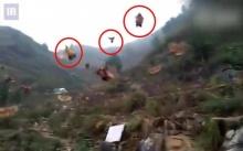 ใครบอกว่า ไก่บินไม่ได้!!! บรรดาฝูงไก่นับร้อยตัว บินลงจากภูเขา!! (คลิป)