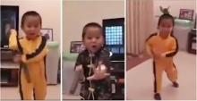 อึ้ง! เด็กน้อยโชว์กังฟู ยังกับบรูซ ลีกลับชาติมาเกิด