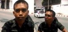 ทหารกร่าง ปะทะคารมตำรวจ หลังทำผิดกฏจราจร