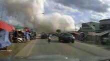 วินาทีระเบิดเพลิง!!! ตลาดต.ทับช้าง อ.สอยดาว จ.จันทบุรี