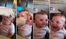 คลิปสุดน่ารัก! เมื่อทารกน้อยลองใส่แว่นสายตาสั้นเป็นครั้งแรก