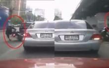 กรรมติดจรวด!! ขับรถย้อนศรแถมถีบรถคนอื่น สุดท้ายเป็นแบบนี้!!