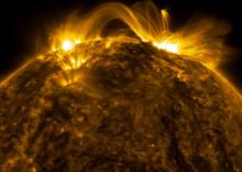 พลังอันร้อนแรงของพระอาทิตย์ภายใต้แสงเฉดสีต่างๆ