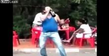 คลิปอุทาหรณ์เตือนใจ เมาแล้วอย่าเต้นบนถนน!