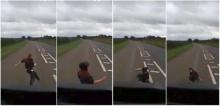 เด็กวิ่งตัดหน้ารถบรรทุกโดนชนอย่างจัง แต่..!?