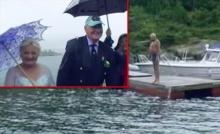คุณปู่วัย79ปีทำตามคำมั่นสัญญา ว่ายน้ำสวมแหวนแต่งงานคนรัก