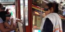 """ฉะกันนัว!!  """"สาวอุ้มลูก VS กระเป๋ารถเมล์""""ไม่จอดป้าย…?"""