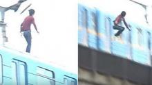 """หนุ่มว่างจัด กระโดดจากรถไฟที่กำลังวิ่ง บอก """"แก้เบื่อ"""""""