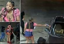 ระทึก!!หญิงควักปืนที่ซ่อนในกระโปรงยิงถล่มเก๋งคู่อริในปั้มน้ำมัน