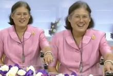 น่ารัก!!สมเด็จพระเทพฯ ทรงทดลองอ่านข่าว ช่อง Thai PBS