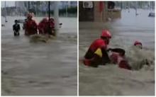 คลิปสุดซึ้ง ไม่ทิ้งกัน! กู้ภัยช่วยหนุ่มจีน 5 คนจากน้ำป่า-รอดแล้วขอร่วมทีมช่วยคนอื่นต่อ (มีคลิป)