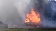 ระทึก! ไฟไหม้รถจนระเบิด