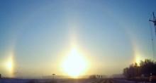 รัสเซียตื่นตา ปรากฏการณ์พระอาทิตย์ 3 ดวง!!!
