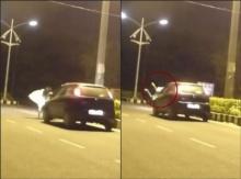 โคตรหลอน !! ผีโดดขวางรถกลางถนนเปลี่ยว คนขับเหยียบมิด-ชนผีกระเด็น !! (ชมคลิป)