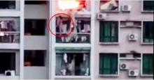 ปีนระเบียงคอนโด 8 ชั้นหนีไฟไหม้ แต่สุดท้ายพลาดตก…!!!