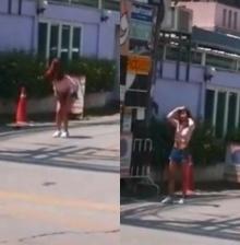 เธอมั่นเวอร์!! สาวเปิดเพลงแดนซ์โชว์กลางถนน  ณ ชียงใหม่ !!!