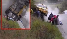 นาทีเฉียดตาย! รถแข่งแรลลี่พุ่งเข้าใส่กลุ่มคน รอดไม่รอด? ไปดู