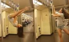 แชร์สนั่น! คลิปสาวโชว์เต้นโพลแดนซ์กลางรถไฟฟ้าใต้ดิน