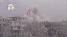 ขนลุกเลย! ทิ้งระเบิดลงตึก เห็นคนปลิวต่อหน้าต่อตา