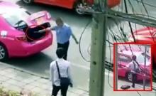 เตะรถทำไม? โชเฟอร์แท็กซี่คว้าประแจฟาดใส่ผู้โดยสาร??