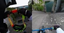 นักปั่นท้าตาย โชว์ซิ่งจักรยานตามแนวกำแพงเขื่อน
